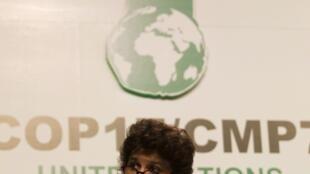 A ministra brasileira do Meio Ambiente, Izabella Teixeira, discursa na Conferência do Clima de Durban, nesta quinta-feira.