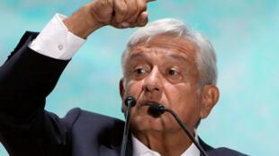 El presidente electo de México, Andrés Manuel Lopez Obrador, el 2 de julio de 2018 en México.