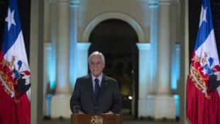 Le président chilien Sebastian Piñera, lors de son discours à la nation, le 17 novembre 2019. (Photo d'illustration).