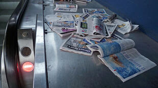 Free newspaper left in a metro station in Toulouse