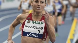 Ophélie Claude-Boxberger en février 2019 sur 1500 mètres lors des championnats de France en salle.