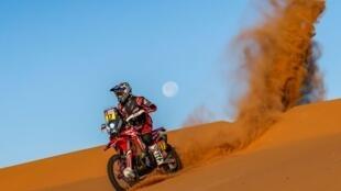 El piloto chileno Nacho Cornejo durante una de las etapas del Raid Dakar 2020 en Arabia Saudita.