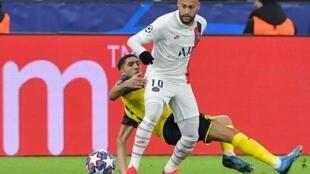 Le Brésilien Neymar lors du huitième de finale aller face à Dortmund, le 18 février 2020.