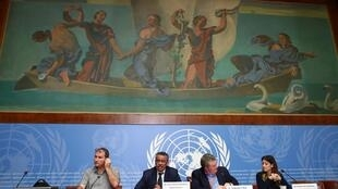 Director-General of the World Health Organization (WHO) Tedros Adhanom Ghebreyesus speaks during a news conference on the situation of the coronavirus at the United Nations, in Geneva, Switzerland, January 29, 2020
