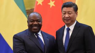 加蓬總統邦戈與中國國家主席習近平2016年12月7日北京
