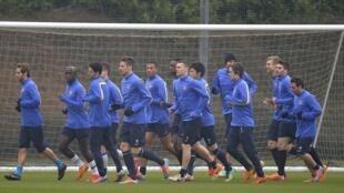 O Bayern de Munique, que segue firme na defesa de seu título, treina antes de receber em casa o inglês Arsenal