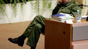 Ông Fidel Castro trong một hội nghị về chống khủng bố tại La Habana ngày 03/06/2005.