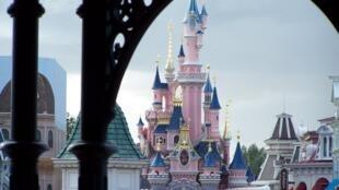 Disneyland Paris in the suburb of Marne-la-Vallee