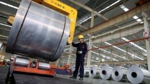 Les Etats-Unis importent la moitié de leur aluminium de Chine (sur la photo une production d'acier dans l'est de la Chine), de Russie, mais surtout du Canada.