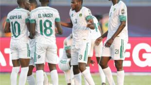 L'équipe mauritanienne face à l'Angola (CAN 2019) le 29 juin 2019.