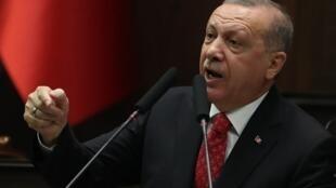 Turkish President Recip Tayyep Erdogan on 5 February 2019