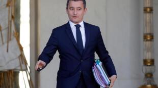 Le ministre de l'Action et des Comptes publics Gérald Darmanin, au Palais de l'Elysée, le 10 octobre 2018.