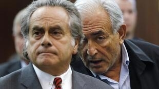 Dominique Strauss-Kahn in court with lawyer Benjamin Brafman