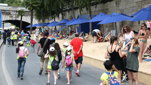 Paris plage, the summer beach on the right bank of the Seine