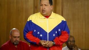 O presidente da Venezuela, Hugo Chavez.
