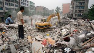 Quang cảnh hoang tàn tại Thành Đô, thủ phủ tỉnh Tứ Xuyên sau trận động đất kinh hoàng năm 2009.