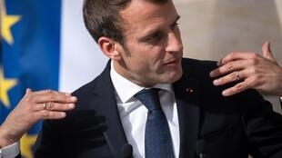 An ardent European: French President Emmanuel Macron refuses to be the only political figure condemned to silence in the European debate.