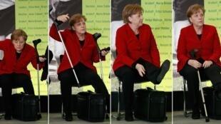 A chanceler da Alemanha, Angela Merkel, se machucou quando praticava esqui de fundo na Suíça.