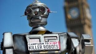 Campaña en contra de los robots asesinos.