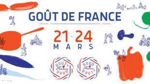 Logo chương trình Goût de France/Good France (Hương vị Pháp), từ ngày 21-24/03/2019.