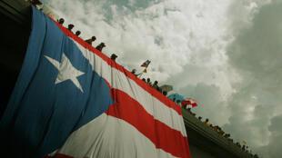 Manifestación por el empleo en San Juan, Puerto Rico.