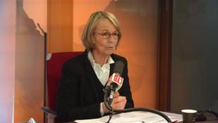A Ministra da Cultura, Françoise Nyssen, na RFI, a 21 de Março de 2018.