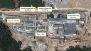 Bắc Triều Tiên : Ảnh vệ tinh trung tâm hạt nhân Yongbyong, công bố ngày 16/04/2019.