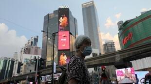 Une scène de rue à Kuala Lumpur, le 17 février 2020, en pleine crise du coronavirus.