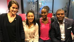 Lucie Paret et Ambre Delpierre, fondatrices de Sahelia ; Serge Mayele Kasaï, fondateur de Myls Partner.