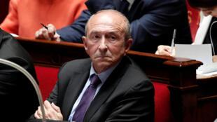 Глава МВД Франции Жерар Коллон в Национальном собрании 3 октября 2017.