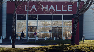 Un magasin La Halle, qui appartient au groupe Vivarté.