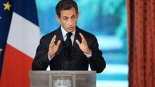 Nicolas Sarkozy, 25 de agosto de 2010.