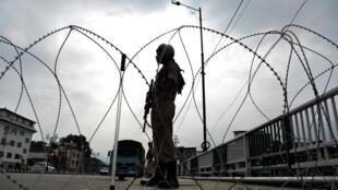 Photo prise à Srinagar, le 11 août 2019, après la décision du gouvernement indien de révoquer le statut du Jammu-et-Cachemire.