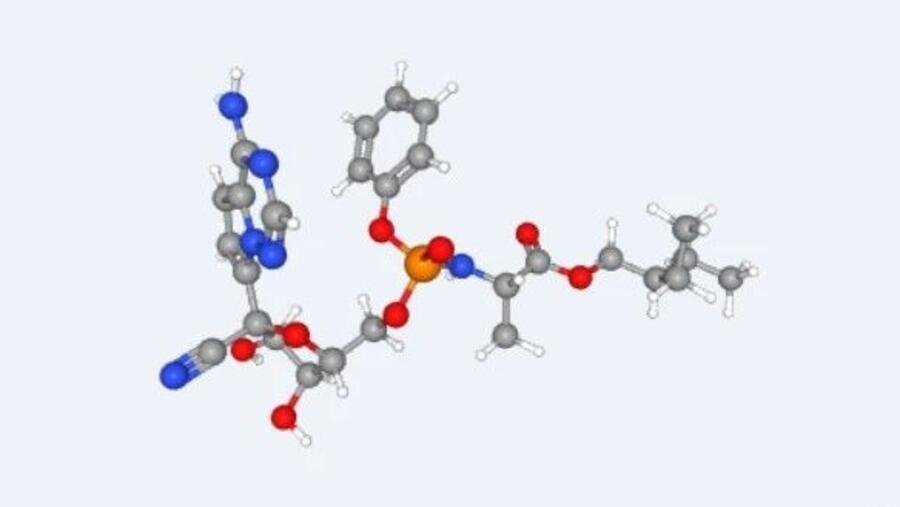 图为美国冠状病毒新药瑞德西韦化学序列图谱