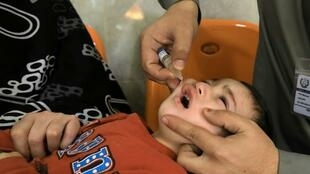 Campagne de vaccination contre la polio au Pakistan.