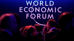 A logo of the World Economic Forum (WEF) is seen as people attend the WEF annual meeting in Davos, Switzerland January 24, 2018.