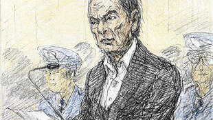 Carlos Ghosn as depicted in a courtroom sketch during a hearing in Tokyo, 8 January 2019.