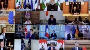 應對疫情二十國集團舉行視頻峰會資料圖片
