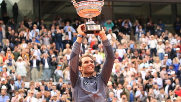 Rafael Nadal has never lost a final at the French Open.