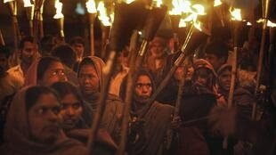March marking the 25th anniversary of the Bhopal industrial disaster