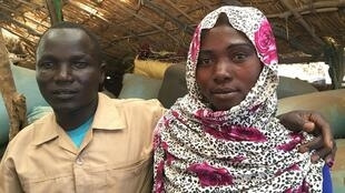 Younis and Halima Issa, former Chadian refugees in Darfur. In Kerfi, Chad