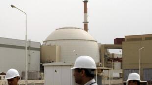 Central nuclear de Bushehr, Irão. 25 de Fevereiro de 2009.
