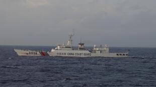 Tầu tuần duyên Trung Quốc số hiệu 31239 trong khu vực biển Hoa Đông, gần quần đảo tranh chấp Senkaku/Điếu Ngư. Ảnh chụp của tuần duyên Nhật Bản ngày 22/12/2015.