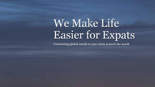 La page d'accueil du site www.internations.org, un réseau pour les expatriés.