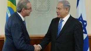 O presidente da Câmara, Eduardo Cunha, se reuniu com o primeiro-ministro israelense Benjamin Netanyahu em Jerusalém.