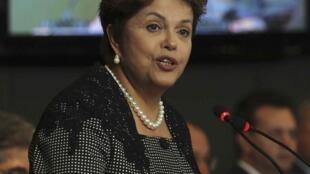 Presidente do Brasil, Dilma Rousseff.