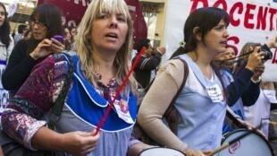 Em março, os professores da rede pública de Buenos Aires fizeram uma longa greve por melhores salários.