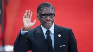 Teodorin Obiang, vice-président de Guinée équatoriale, en mai 2019.