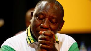 Rais mpya wa chama tawala nchini Afrika Kusini  Cyril  Ramaphosa.