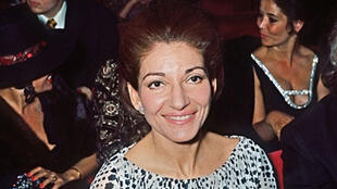 Maria Callas, na casa de shows Olympia, em Paris, em abril de 1971.